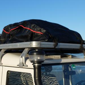 Opvouwbare daktas / dakkoffer van 500L voor op auto of 4x4