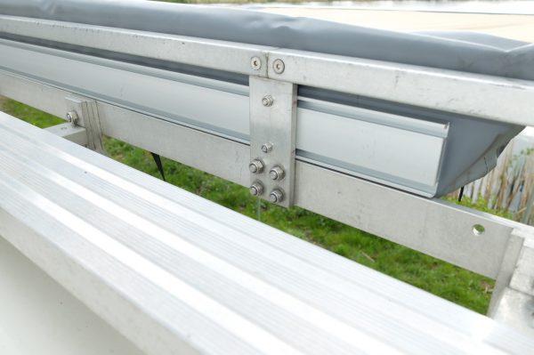 Luifel montage op roof rack